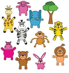 animal cartoon collection vector image
