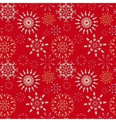 Christmas seamless pattern light snowflake signs vector