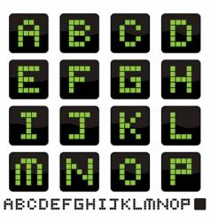 Alphabet icons a p vector image
