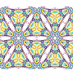 Thin kaleidoscopic triangle pattern vector