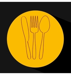 Cutlery set design vector