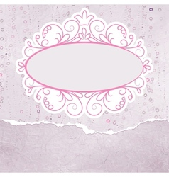 Vintage floral lace card vector