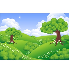 Landscape green hills vector