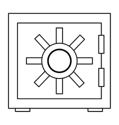 Safety vault icon vector