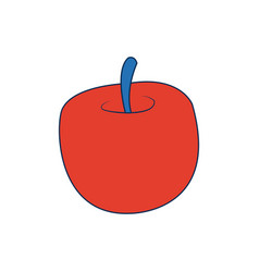 Apple back to school elementary study symbol vector