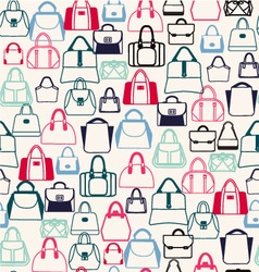 bags pattern Fashion Bags silhouettes vector image vector image