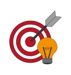 Bullseye and lightbulb icon vector