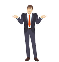 Businessman with an i dont know gesture vector