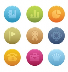 circle office icons vector image vector image