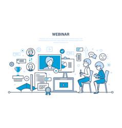 communications learning trainings webinars vector image