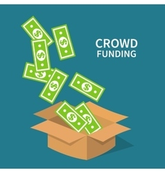 Crowdfunding investing to startup business idea vector