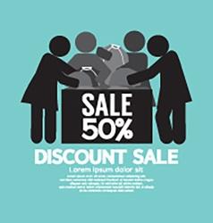 Discount Sale 50 Off Symbol vector image vector image