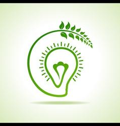 Eco bulb design vector image