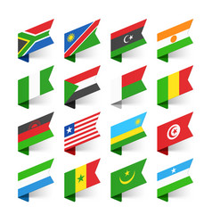 flags of the world africa set 2 vector image vector image