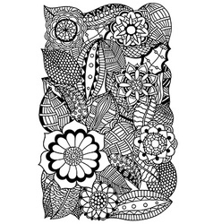 Floral zentangle vector
