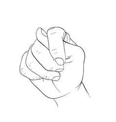 Hand fist signal vector