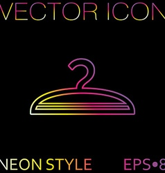 hanger symbol and fashion icon hangers vector image