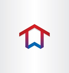 house home real estate icon vector image vector image