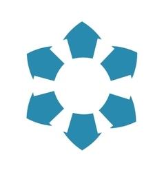 Infographic arrow blue data icon graphic vector