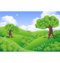 Landscape Green Hills vector image