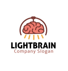 Light design brain vector