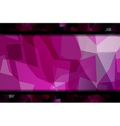 Polygon abstract violet background vector