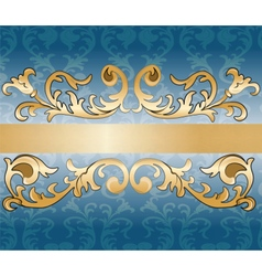 Royal imperial classic ornament damask invitation vector