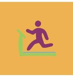 Running treadmill flat icon vector