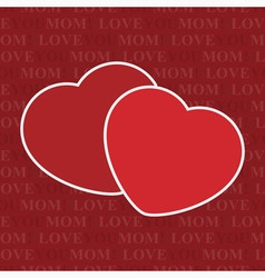 Seamless wrapping paper - two hearts and text vector