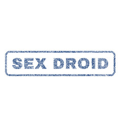 Sex droid textile stamp vector