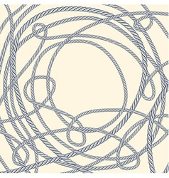 Tangled rope background vector