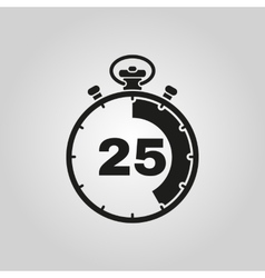 The 25 seconds minutes stopwatch icon Clock and vector image vector image