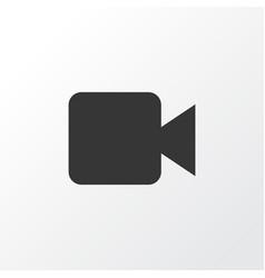 video icon symbol premium quality isolated vector image