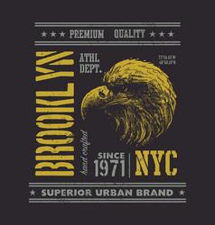 Vintage urban typography with eagle head vector