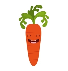 Vegetable character cute icon vector