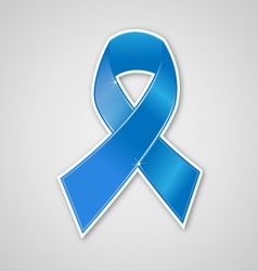 Breast cancer ribbon blue symbol vector
