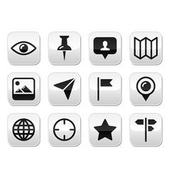 Travel location modern buttons set vector