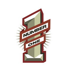 number one leader winner symbol logo vector image