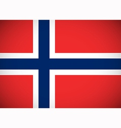 National flag of norway vector
