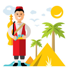 Merchant of fresh water flat style vector