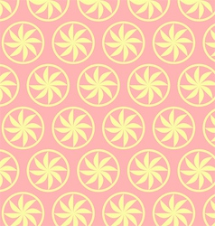 Light yellow curve flower pattern on pastel vector