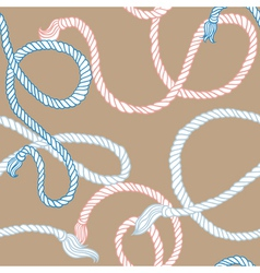 Seamless pattern with ropes vector