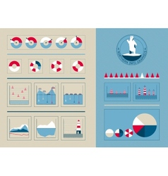 Infographics in the northern style vector image