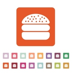 The hamburger icon sandwich and fast food symbol vector