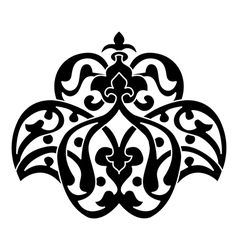 Antique ottoman turkish design vector