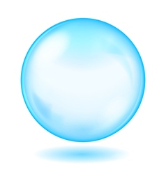 Big blue opaque glass sphere vector