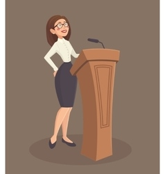 Speaker woman vector