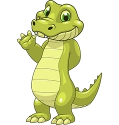 Cute funny crocodile vector image