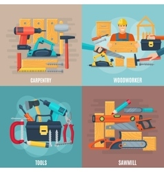 Carpentry design concept set vector