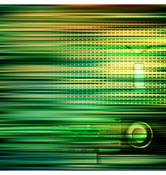 Abstract green blur background with retro radio vector